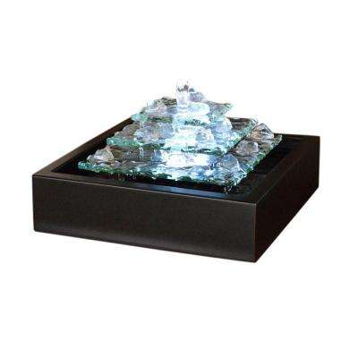 Glass Glacier Ice Tabletop Fountain