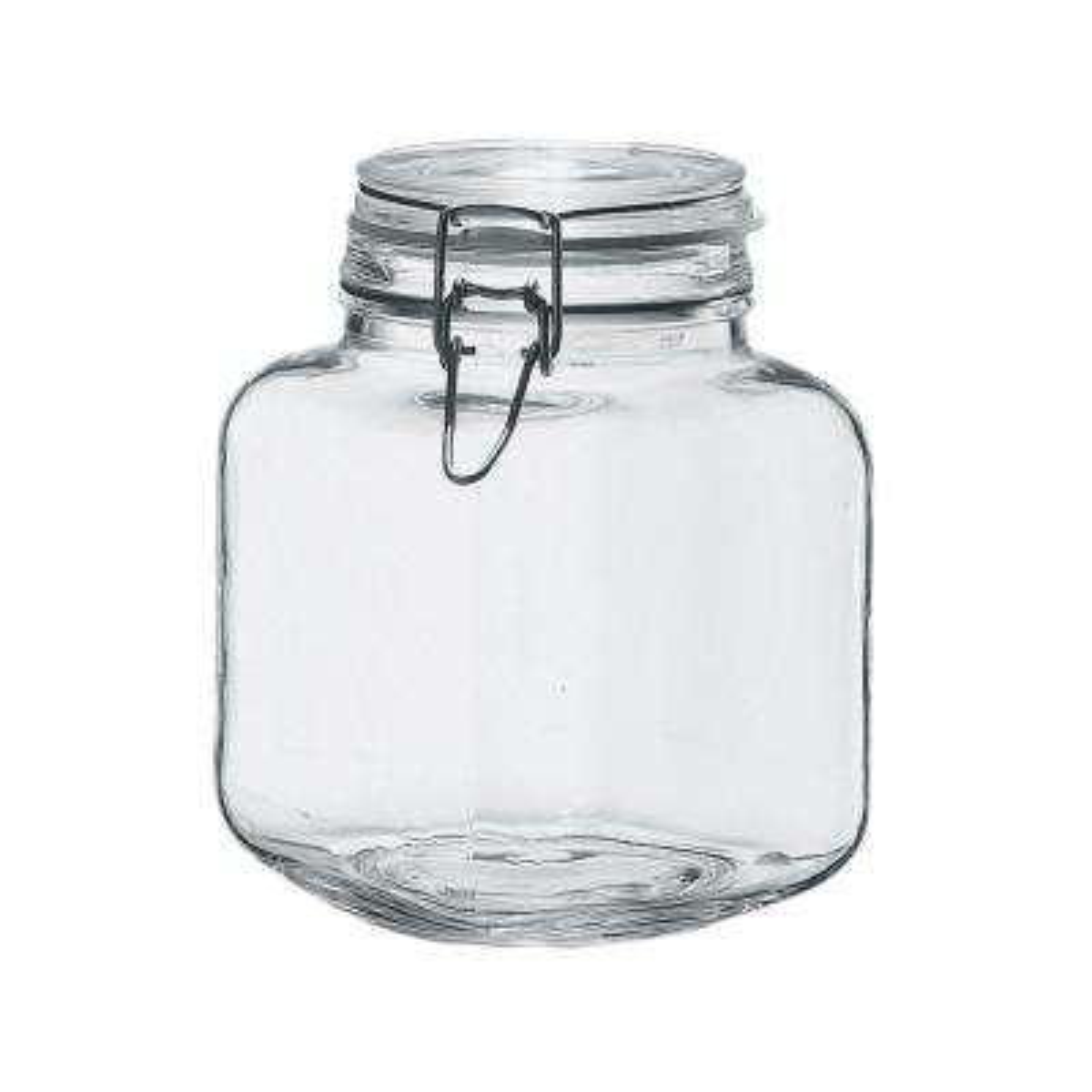 Borgonovo 68 oz. 6-Piece Glass Hermetic Canning Jar Set with Metal Lids