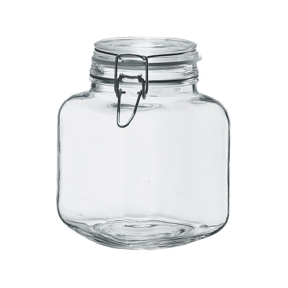 Amici Home Borgonovo 68 oz. 6-Piece Glass Hermetic Canning Jar Set