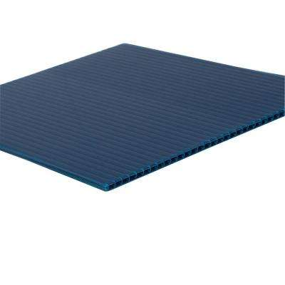 48 in. x 96 in. x 0.157 in. Navy Blue Corrugated Plastic Sheet (10-Pack)