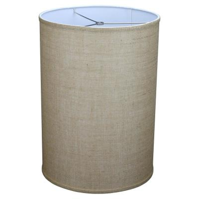 14 in. Top Diameter x 14 in. Bottom Diameter x 20 in. Height Burlap Natural Drum Lamp Shade