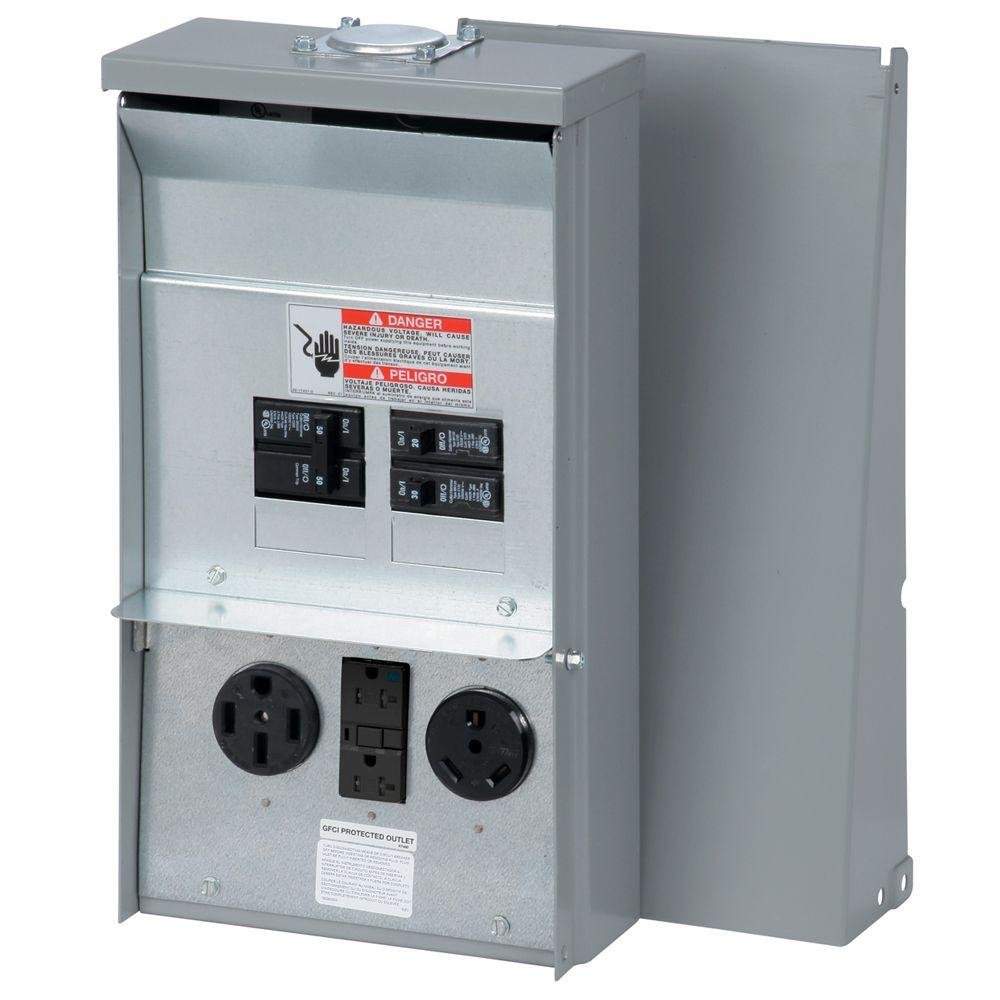 eaton power outlet panel - unmetered-chu1n7n4ns - the home ... receptacle panel wiring gfci switch receptacle combo wiring