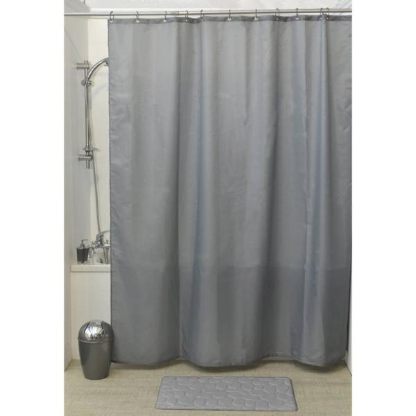Design S Fabric 79 in.Polyester Shower Curtain with 12 Matching Rings