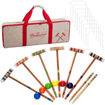 Budweiser 24-Piece 6 Player Croquet Set