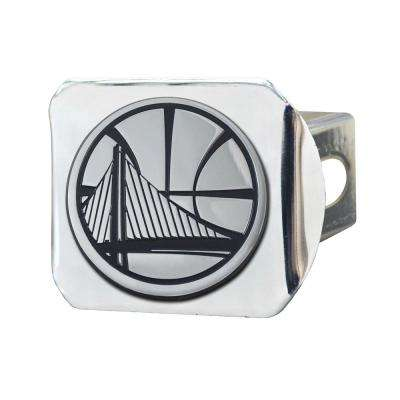 NBA-Golden State Warriors 2 in. Type III Chrome Hitch Cover with Chrome Emblem