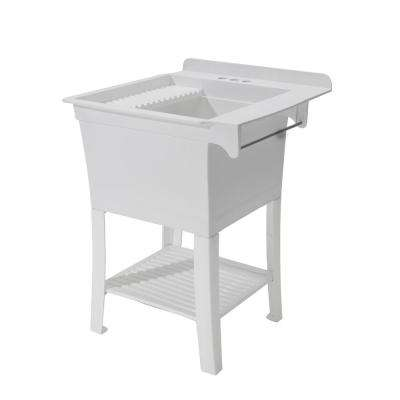25.375 in. x 25.75 in. x 33.875 in. Polypropylene Free Standing Sink The Maddox Workstation - Essential Sink Kit