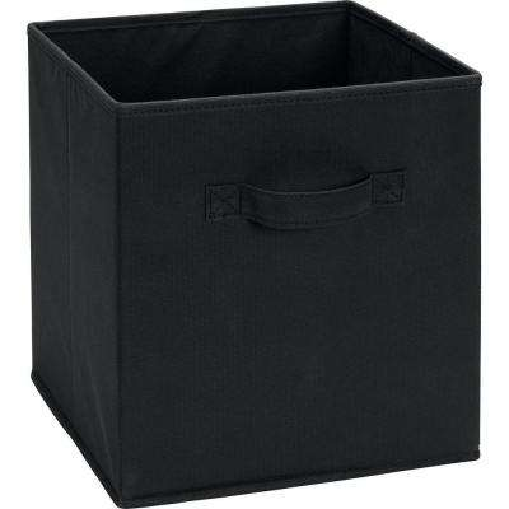 10.5 in. x 11 in. x 10.5 in. 5.25 Gal. Black Fabric Storage Bin