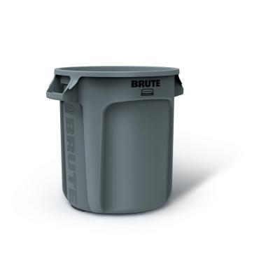 Rubbermaid Swing-Top Lid Recycling Bin for Home Kitchen and Bathroom 12.5 Gallon