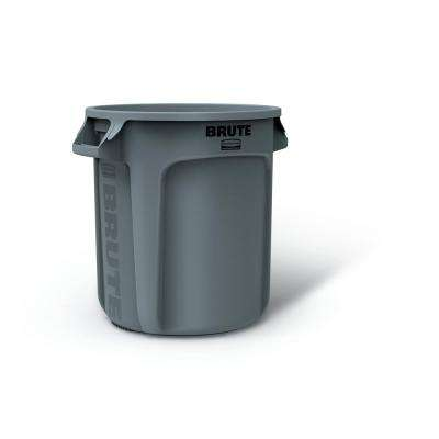 Brute 10 Gal. Round Trash Can with Lid