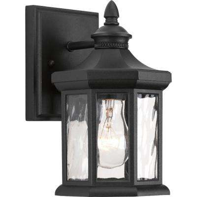 Edition Collection 1-Light Small Black 9.1 in. Outdoor Wall Lantern