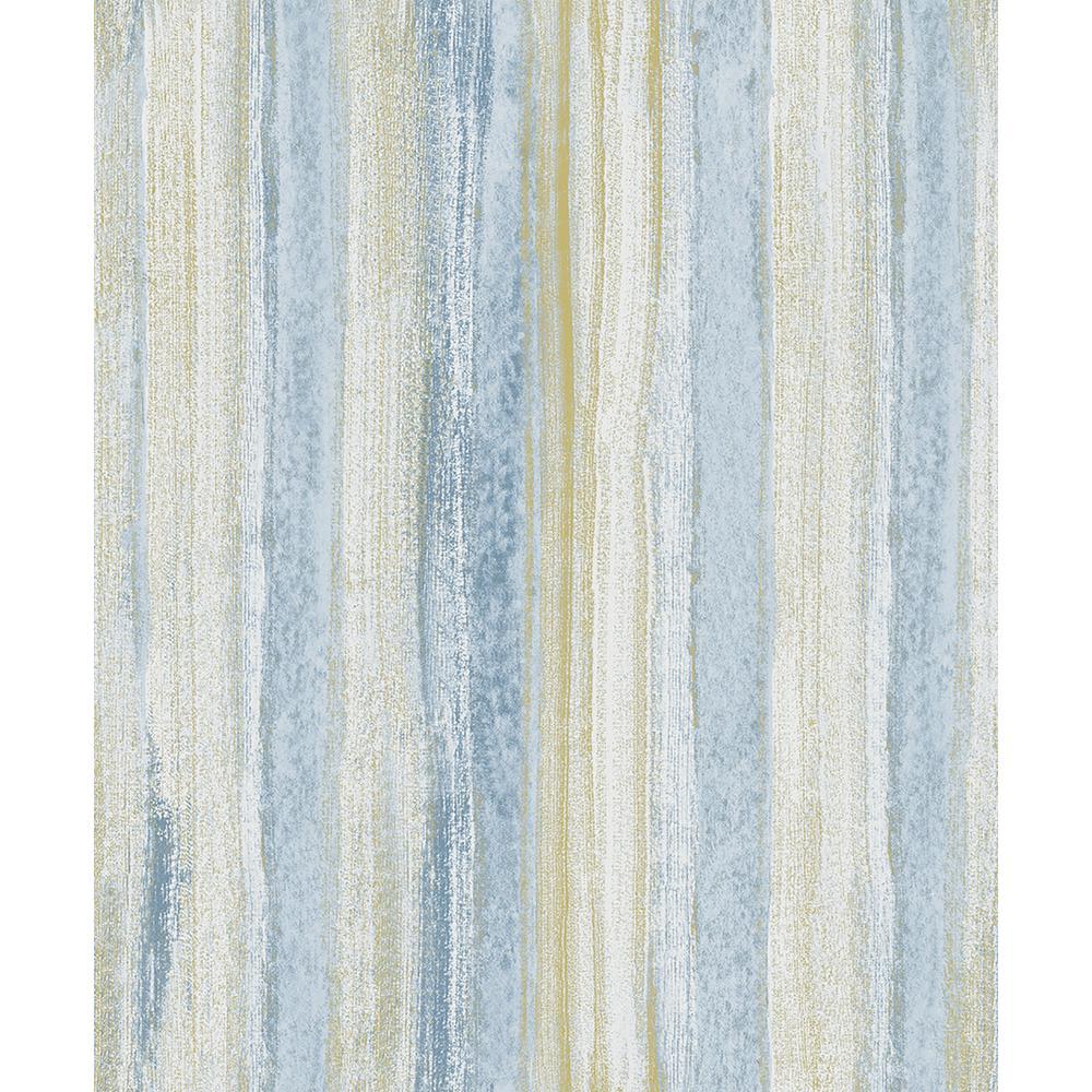 57.8 sq. ft. Donella Blue Stripe Wallpaper