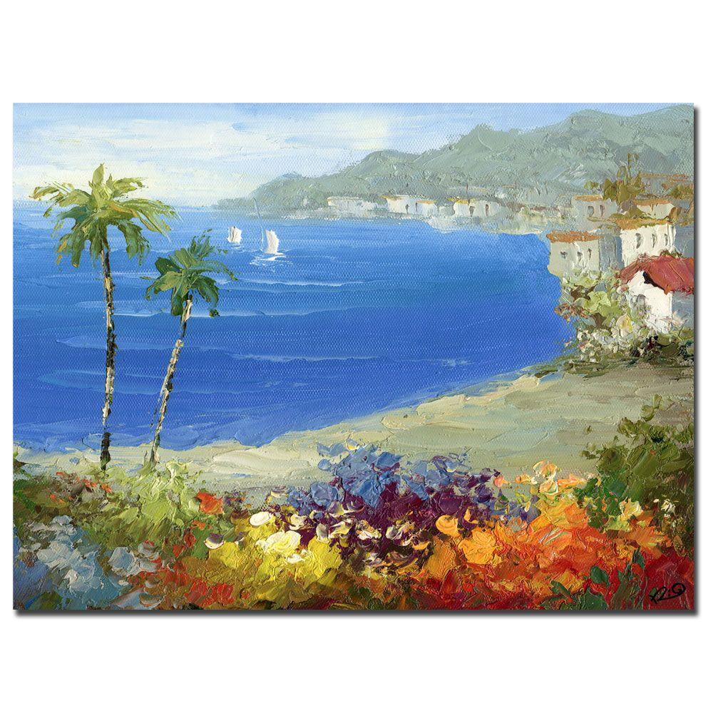 Trademark Fine Art 35 in. x 47 in. Mideterreanean Beach Canvas Art