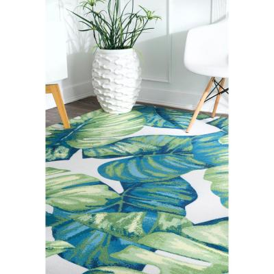 Contemporary Multi 10 ft. x 13 ft. Floral Lisa Indoor Area Rug