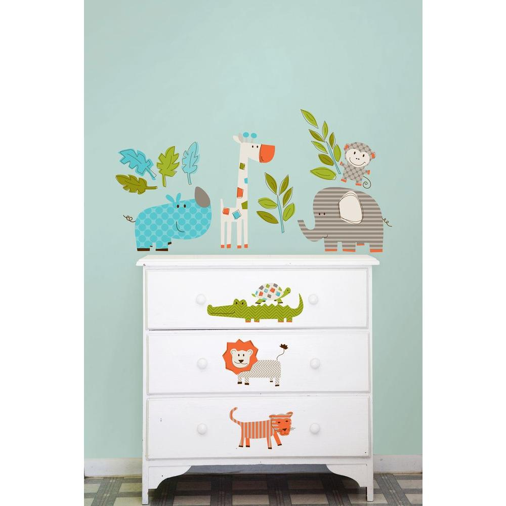 wallpops spot the owl wall applique wpk0620 the home depot. Black Bedroom Furniture Sets. Home Design Ideas