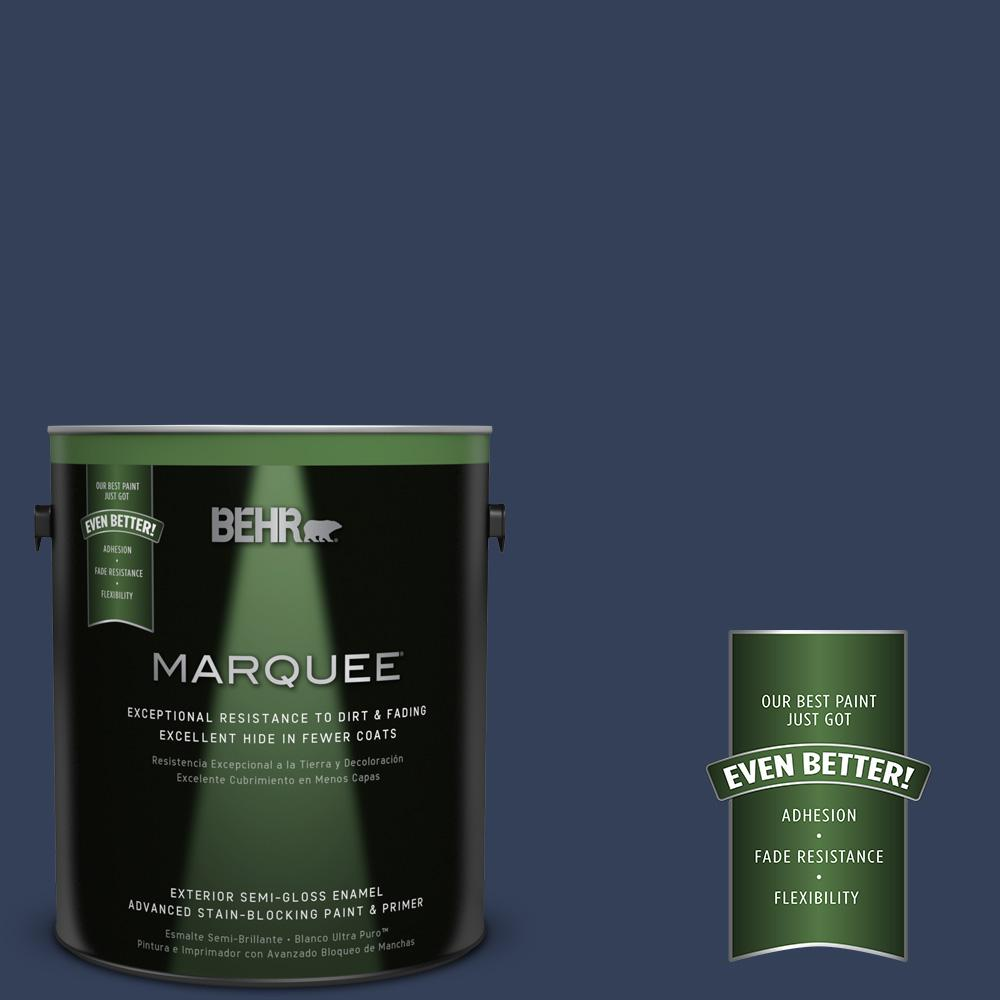 BEHR MARQUEE 1-gal. #600F-7 Soulful Music Semi-Gloss Enamel Exterior Paint
