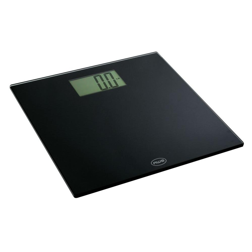 American Weigh Scales Digital Bathroom Scale In Black