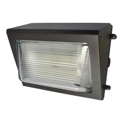 WP Series 100-Watt Equivalent Integrated LED Bronze Outdoor Small Wall Pack Light, 4,733 Lumens, 4000K Bright White