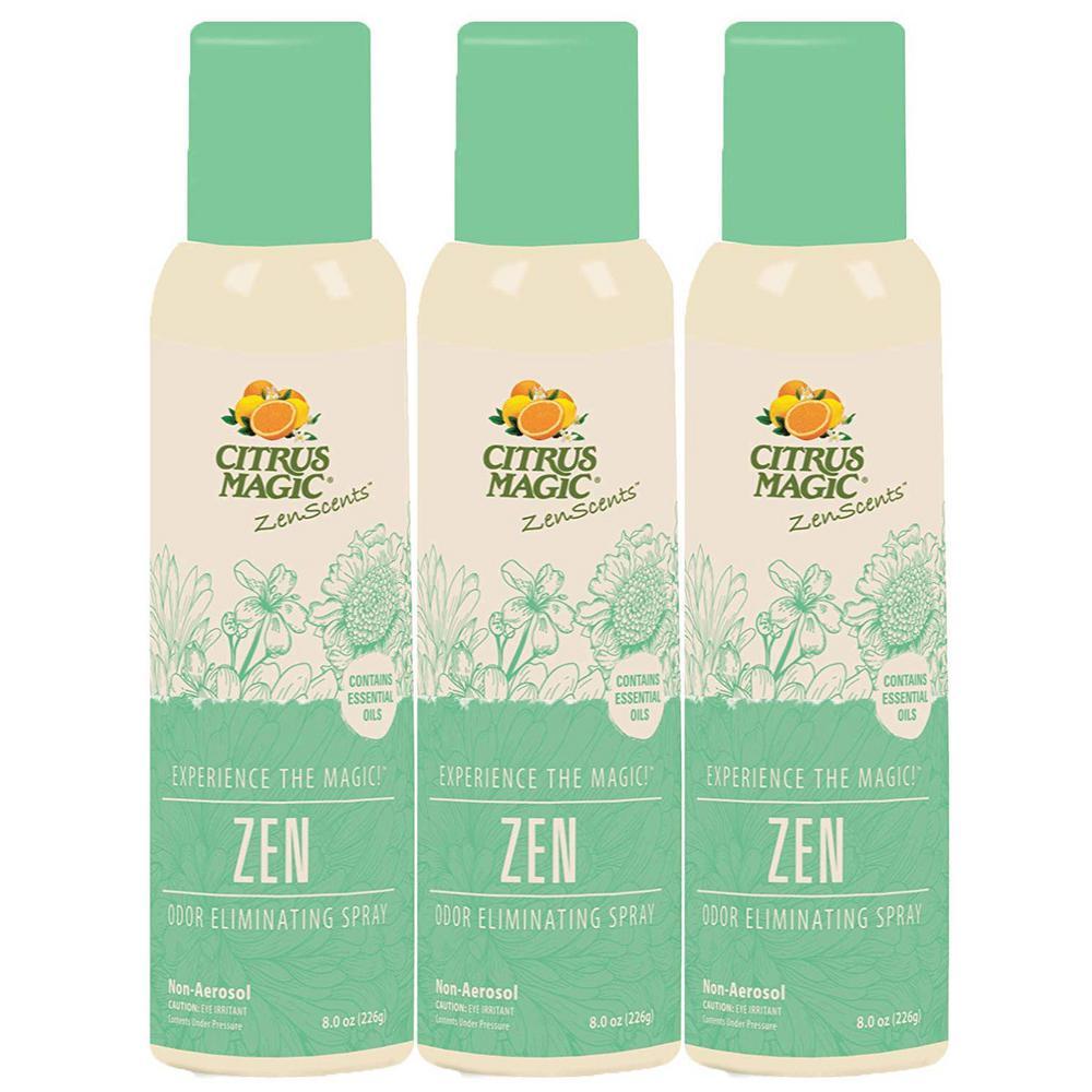 8 oz. ZenScents Aromatherapy Spray Air Freshener, Zen (Pack of 3)