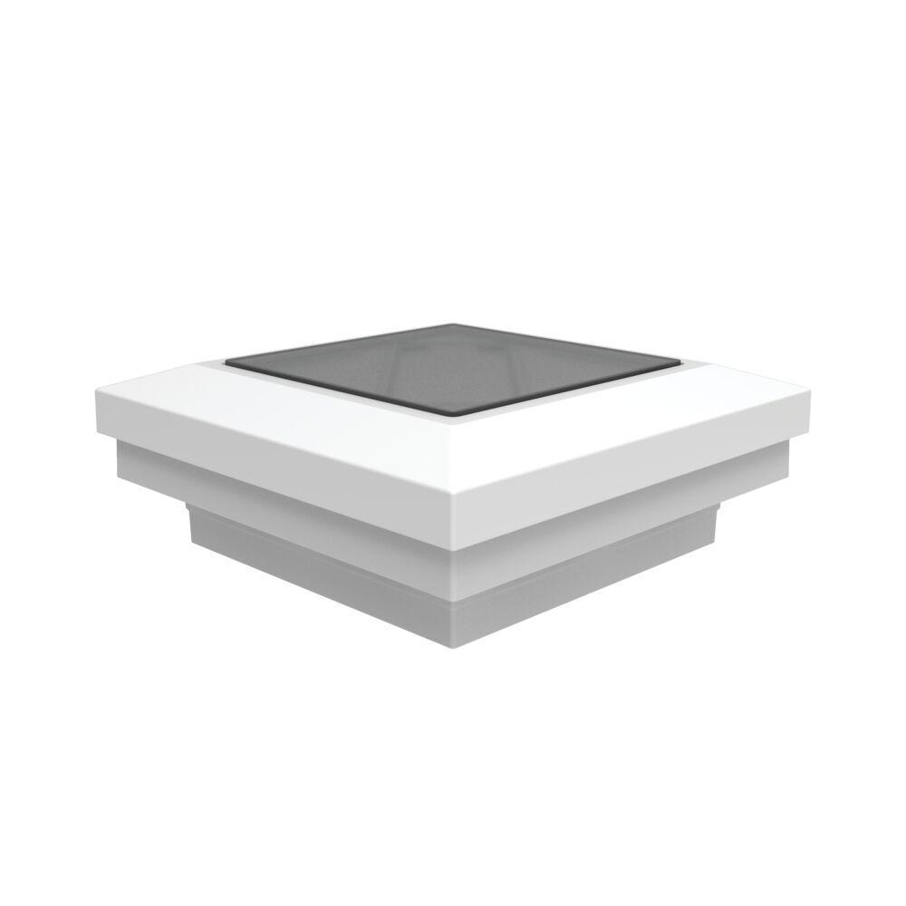 Penrose/VersaRail 2.5 in. White Aluminum Rail Solar Post Top Down Light