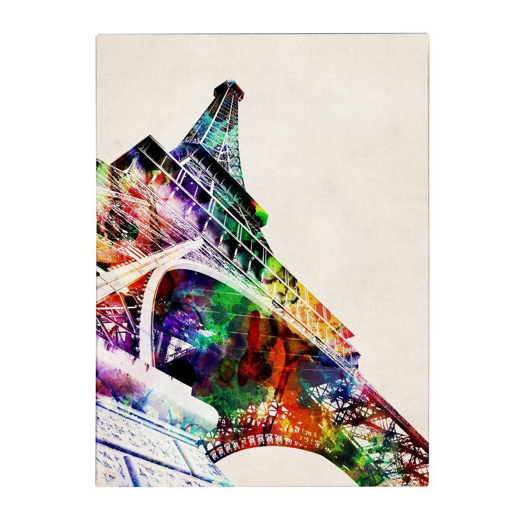 47 in. x 35 in. Eiffel Tower Canvas Art