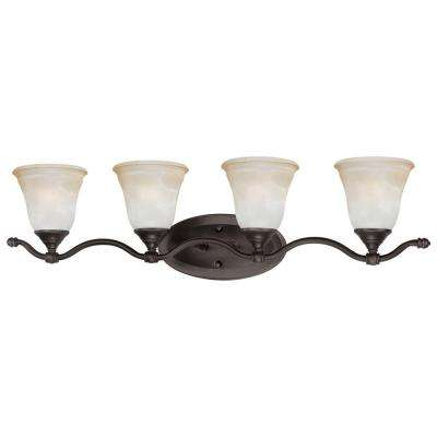 Harmony 4-Light Aged Bronze Bath Fixture