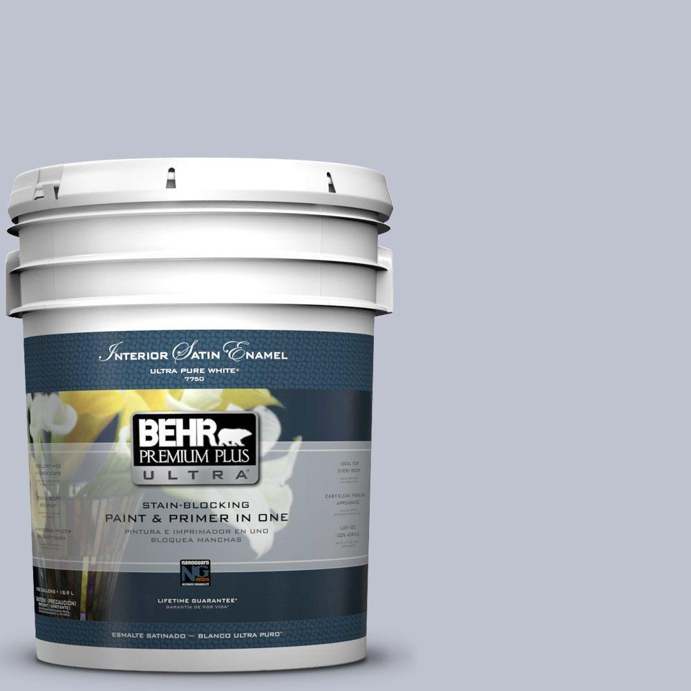 BEHR Premium Plus Ultra 5-gal. #S550-2 Powder Lilac Satin Enamel Interior Paint