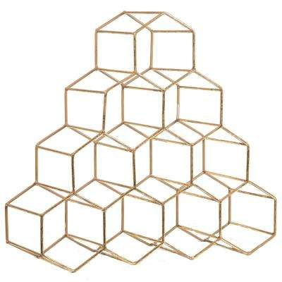 Geometric 10-Bottle Wine Rack