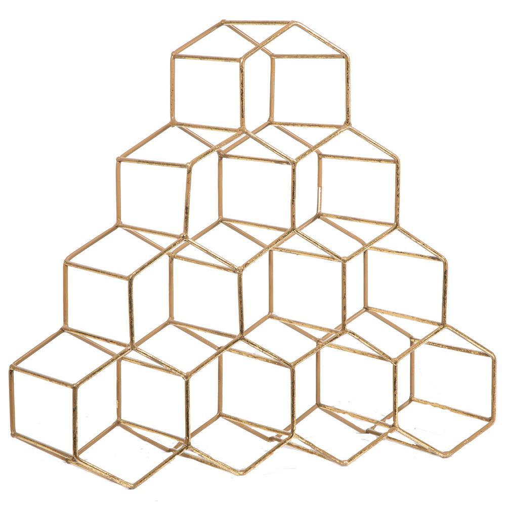 Geometric 10-Bottle Wine Rack