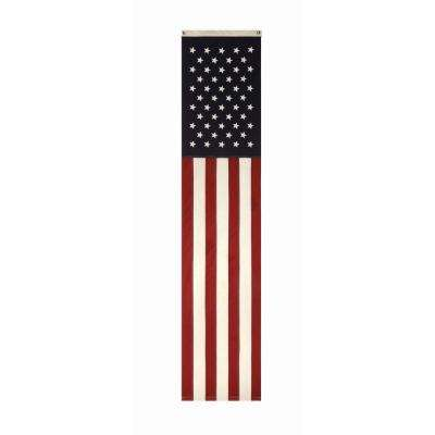 20 in. L x 96 in. H Fabric USA Flag
