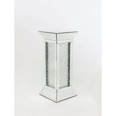 Clear Beveled Mirror Pedestal