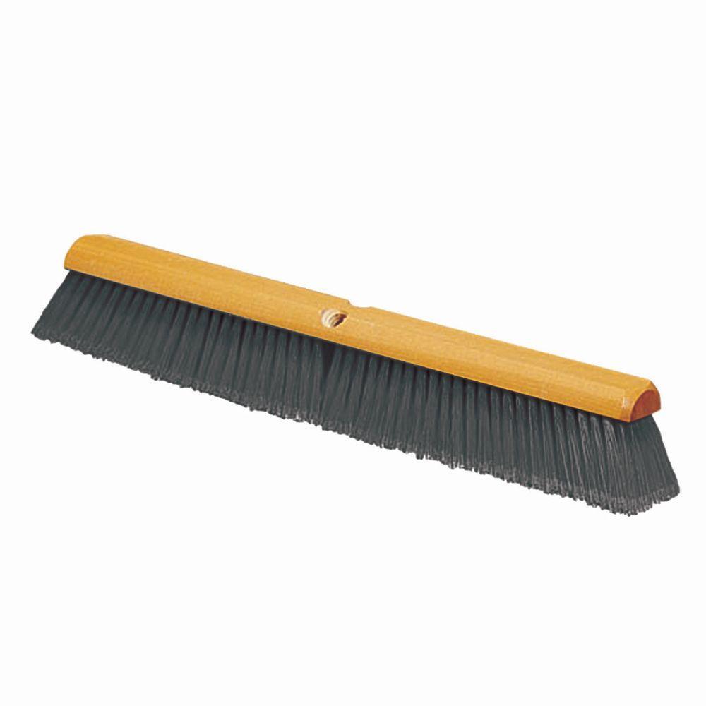carlisle 18 in gray fine sweep floor broom case of 12 4501323 the home depot 18 in gray fine sweep floor broom case of 12