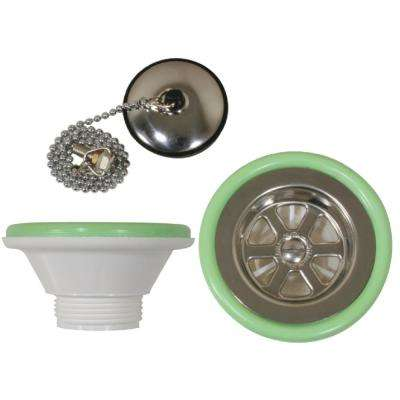 1-1/4 in. Outlet Sink Drain With Stopper Fits 2-1/16 in. Drain Hole