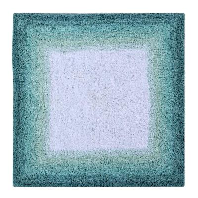 Torrent Bath Rug Turquise 24 in. x 24 in. Cotton Bath Rug