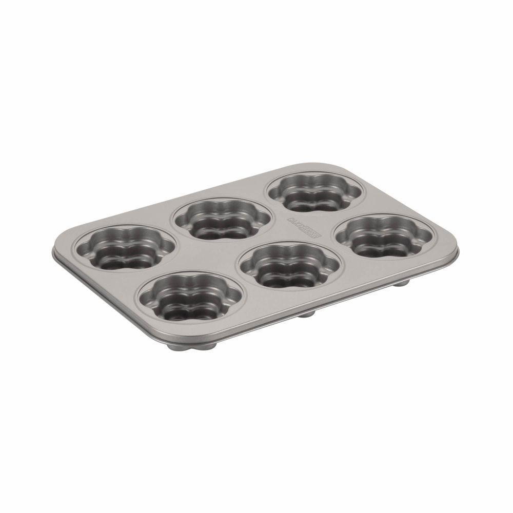 Novelty Nonstick Bakeware 6-Cup Flower Cakelette Pan