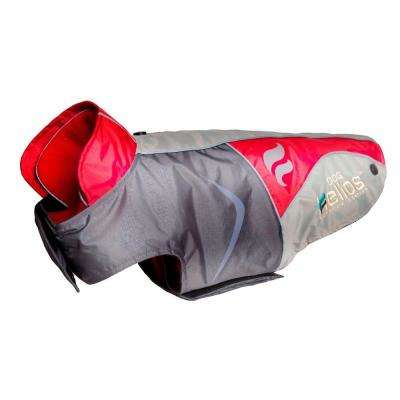 Large Red Lotus-Rusher Waterproof 2-in-1 Convertible Dog Jacket with Blackshark Technology