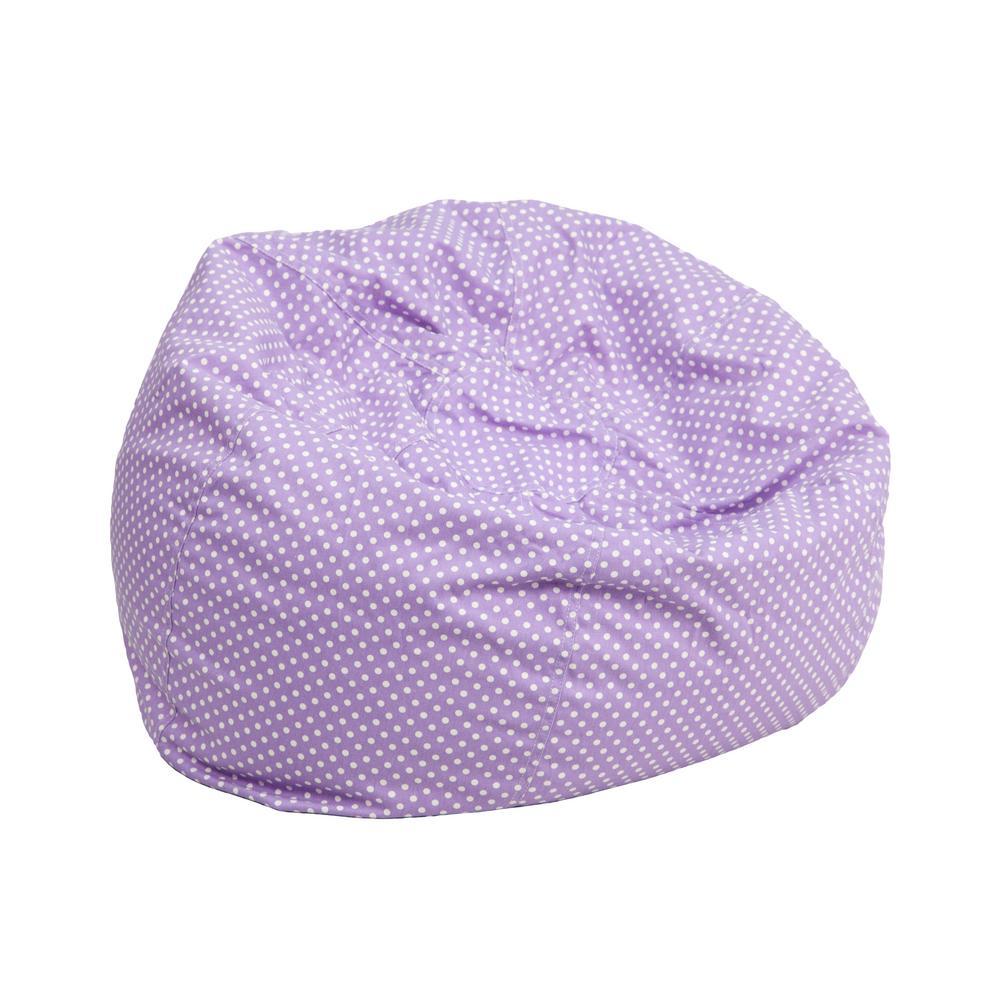 Awesome Small Lavender Dot Kids Bean Bag Chair