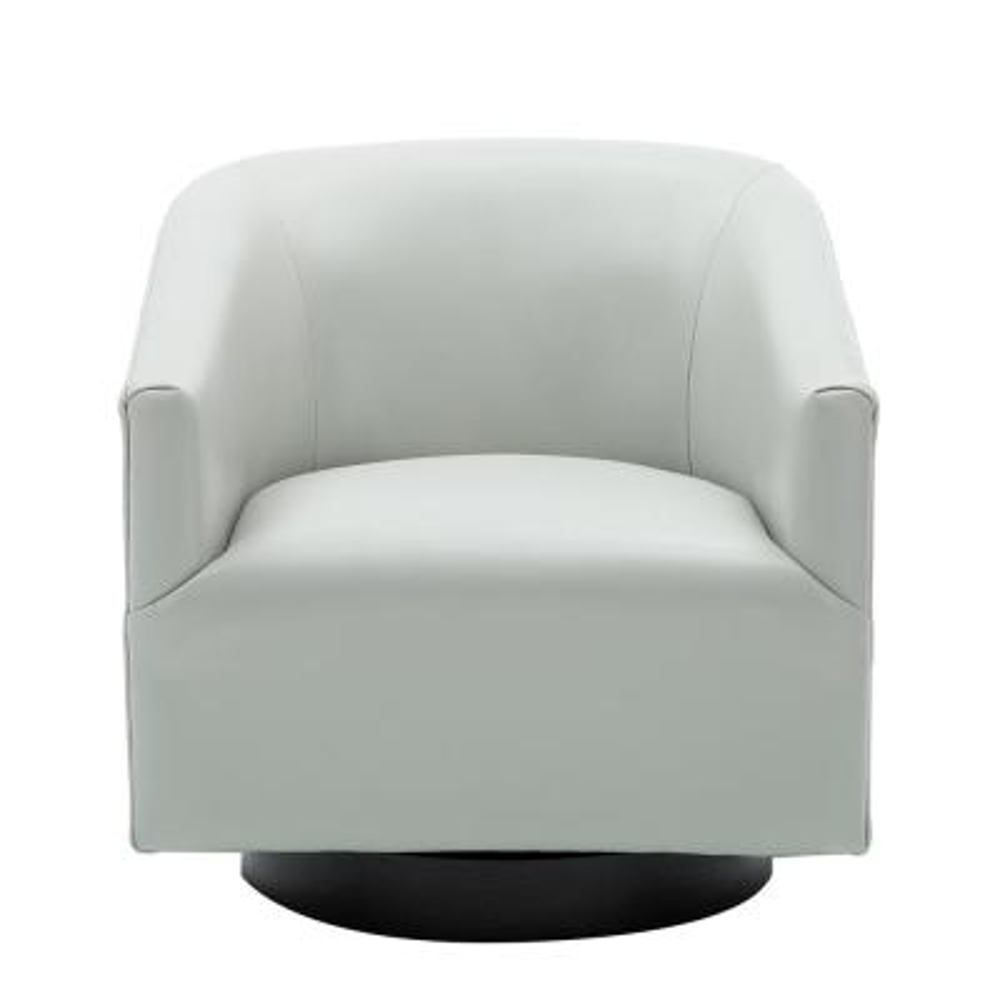 Gaven Dove Grey Wood Base Swivel Chair