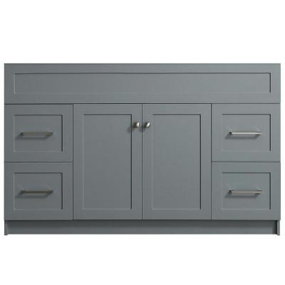 Hamlet 54 in. W x 21.5 in. D x 33.5 in. H Bath Vanity Cabinet Only in Gray