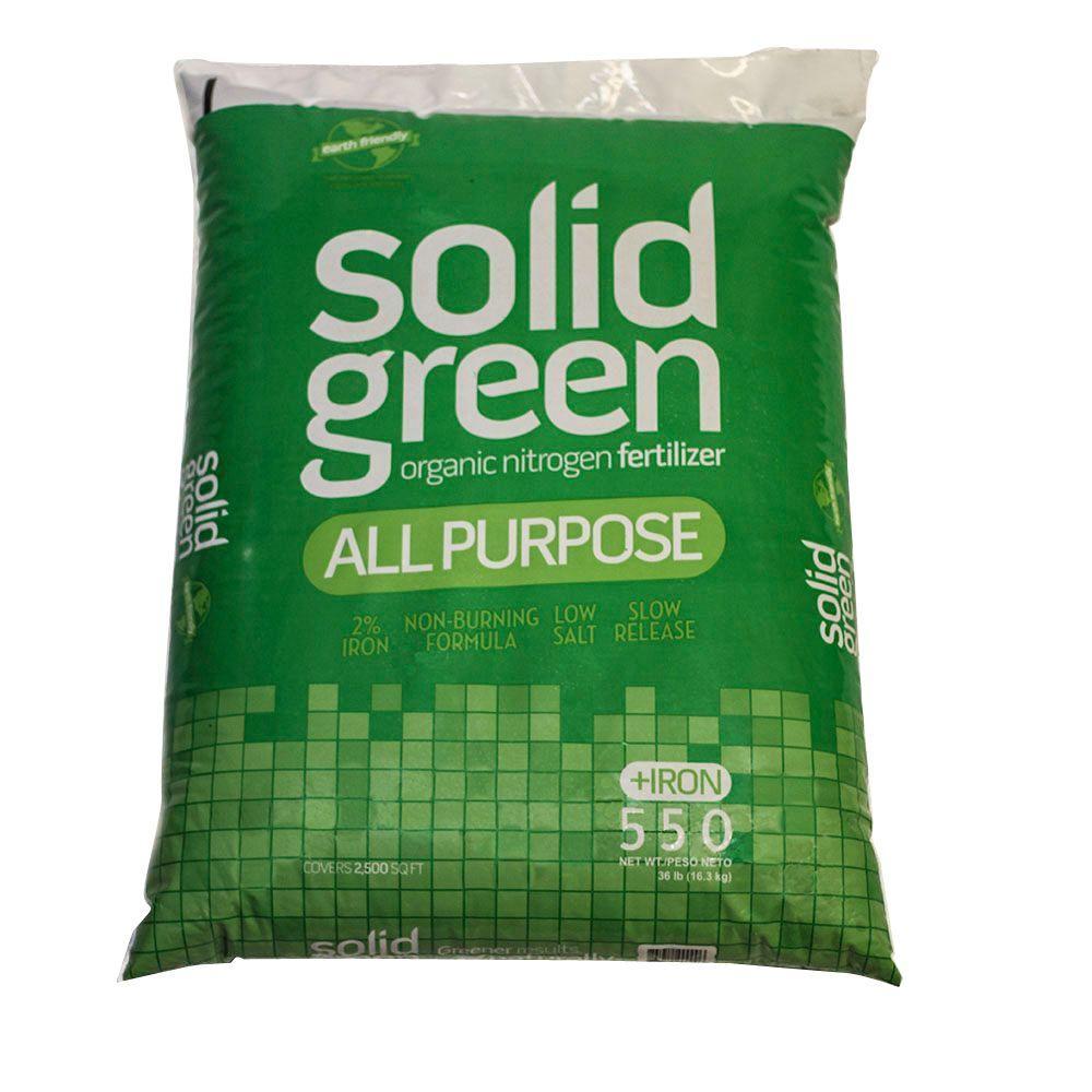 Solid Green Organic Nitrogen Fertilizer 36 Lb. All Purpose