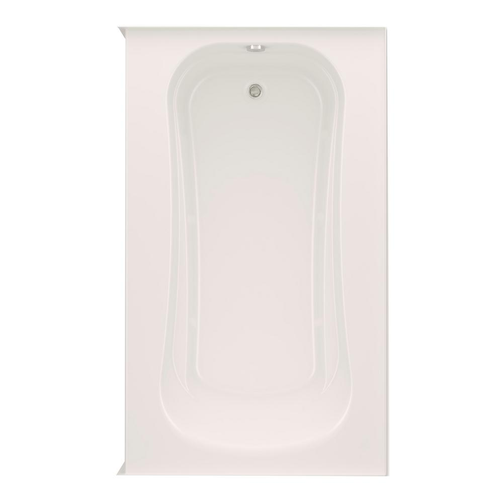 Cariani 72 in. Acrylic Left Drain Rectangular Alcove Soaking Bathtub in Biscuit