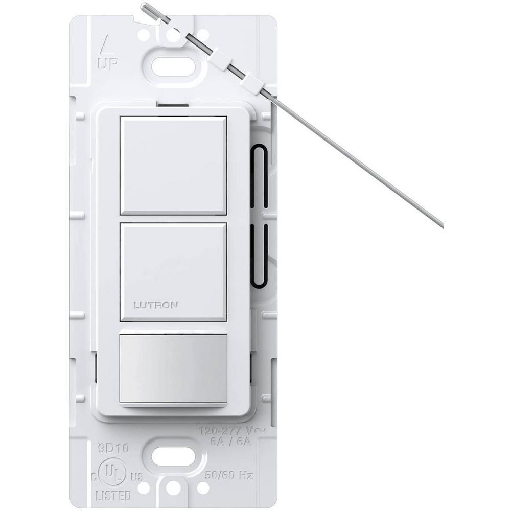 Maestro Dual Circuit Motion Sensor switch, 6-Amp, Single-Pole, White