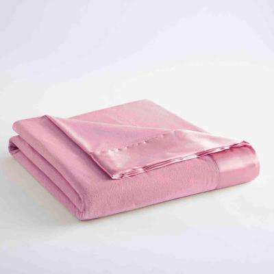 Twin Frosted Rose Year Round Polyester Sheet Blanket