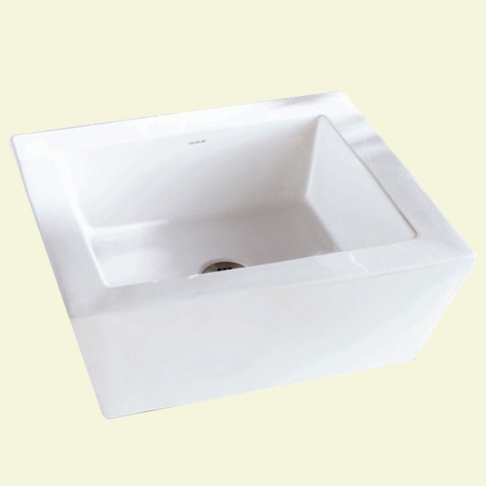 Classically Redefined Square Above-Counter Vitreous China Vessel Sink with