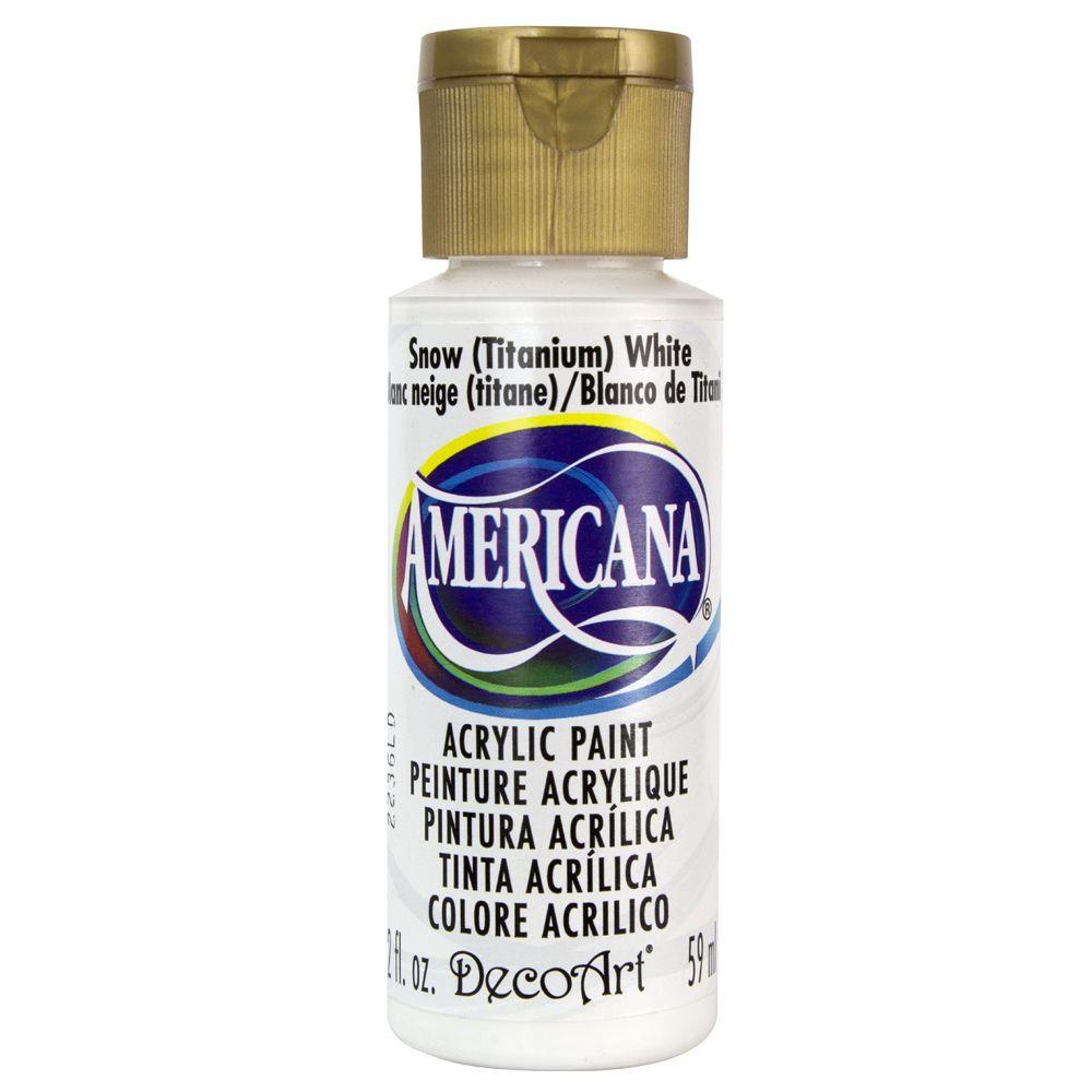 DecoArt Americana 2 oz. Snow (Titanium) White Acrylic Paint