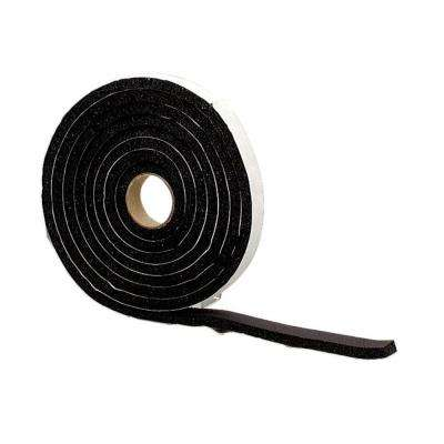 3/8 in. x 10 ft. Black Sponge Rubber Foam Weatherstrip Tape