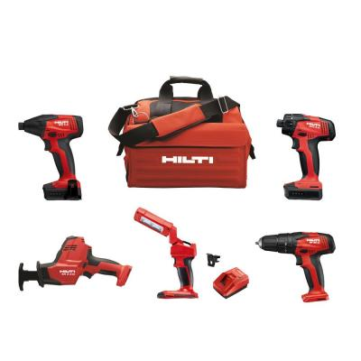 12-Volt Cordless 5-Tool Combo with Recip Saw Hammer Drill Driver Impact Driver 4.0 Li-Ion Battery Pack and More