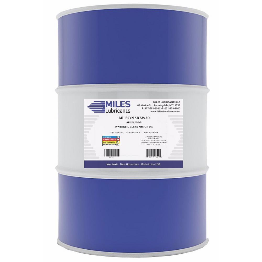 Milesyn SB 5W20 API GF-5/SN 55 Gal. Synthetic Blend Motor Oil Drum
