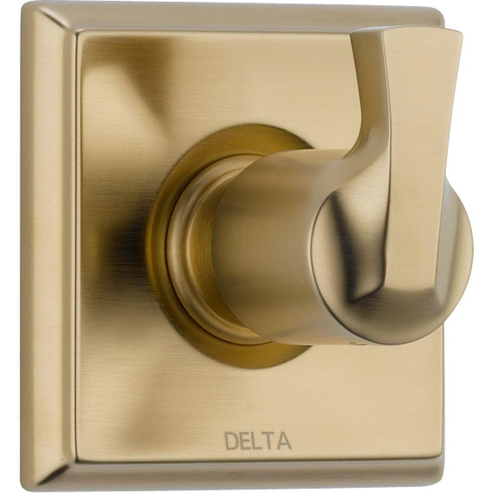 Dryden 1-Handle 3-Setting Diverter Valve Trim Kit in Champagne Bronze (Valve