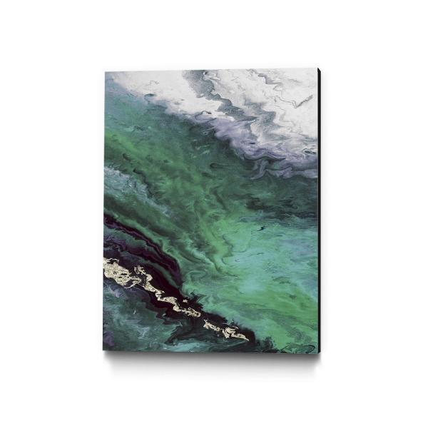 Clicart 24 In X 36 In Green Shore Line From Above By Eva Watts Wall Art Piew081 2436mm The Home Depot