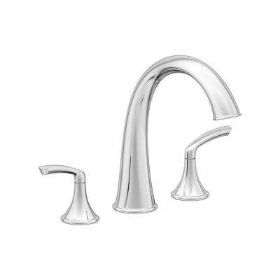 Elm 2-Handle Deck Mounted Roman Tub Faucet in Chrome